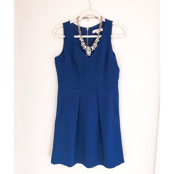 LOFT Dresses & Skirts - LOFT Blue V-neck Pocket Work/Career Dress